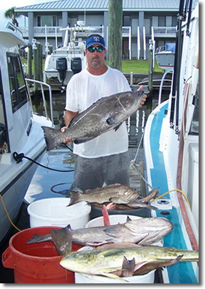 Oaks Charter Fishing, North Florida Charter Fishing, Offshore Fishing in Florida, Grouper Fishing, Bottom Fishing
